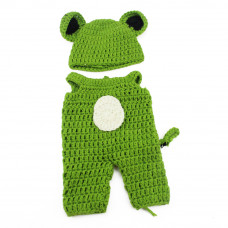 Вязанный (зеленый) комплект для пупса 25 см