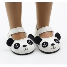"Сандалики ""панда"" на куклу рост 40-46 см. арт. 002"