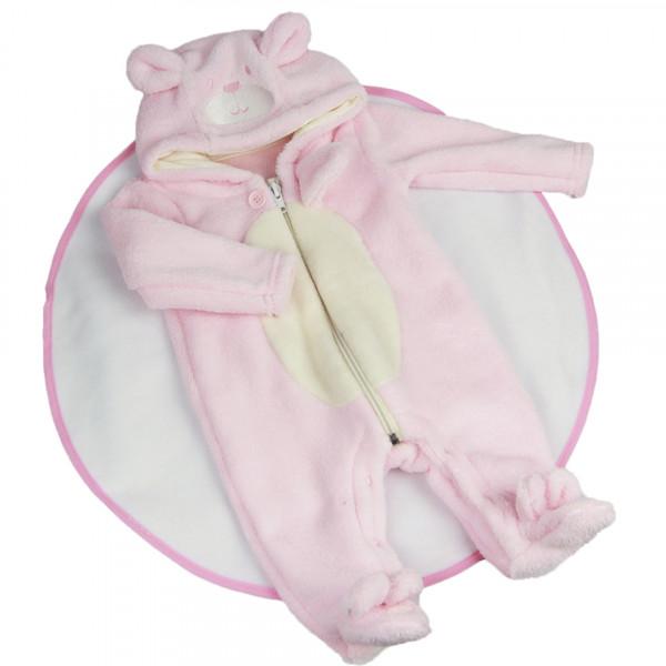 Комбинезон плюшевый розовый для куклы (рост 55-58 см.) арт. 010