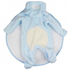 Комбинезон плюшевый голубой для куклы (рост 55-58 см.) арт. 011