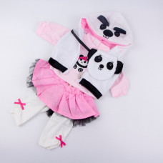 Комплект одежды Панда (рост куклы 43-48 см.) арт. 027