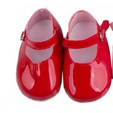 """Сандалики """"красные"""" для куклы 55-60 см. арт. 046"""